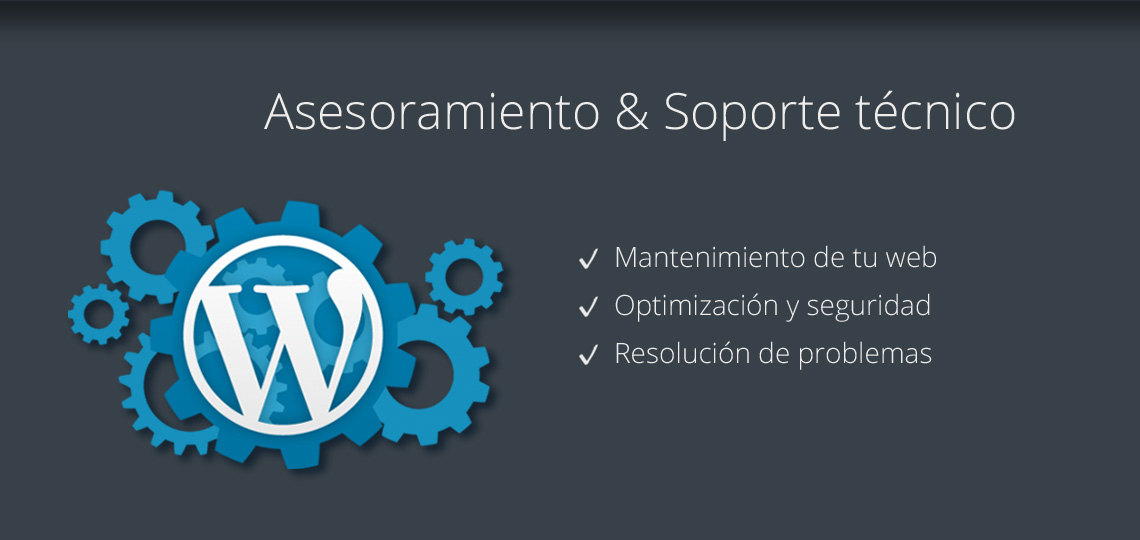 Soporte técnico y asesoramiento en WordPress